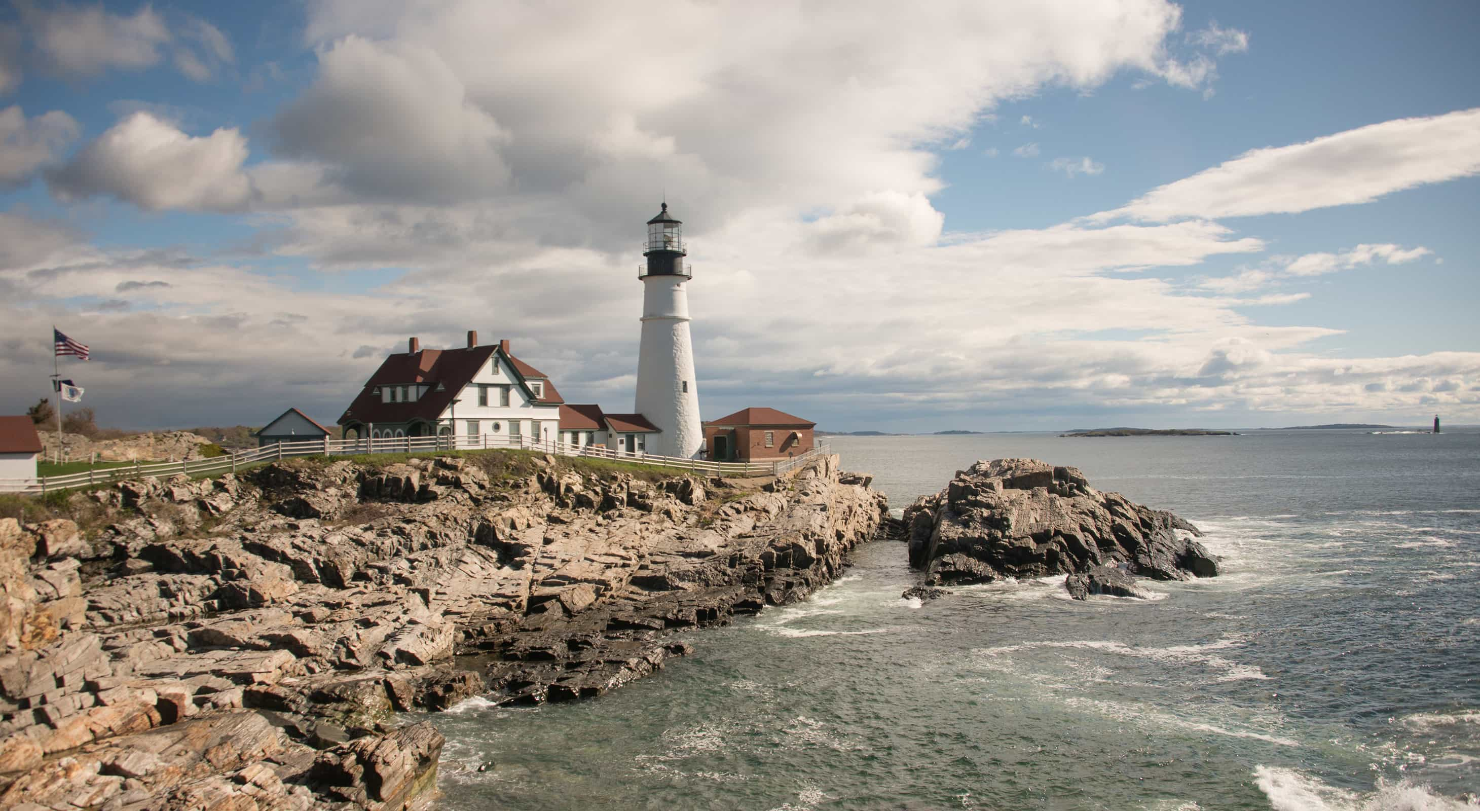 Area lighthouse in Maine