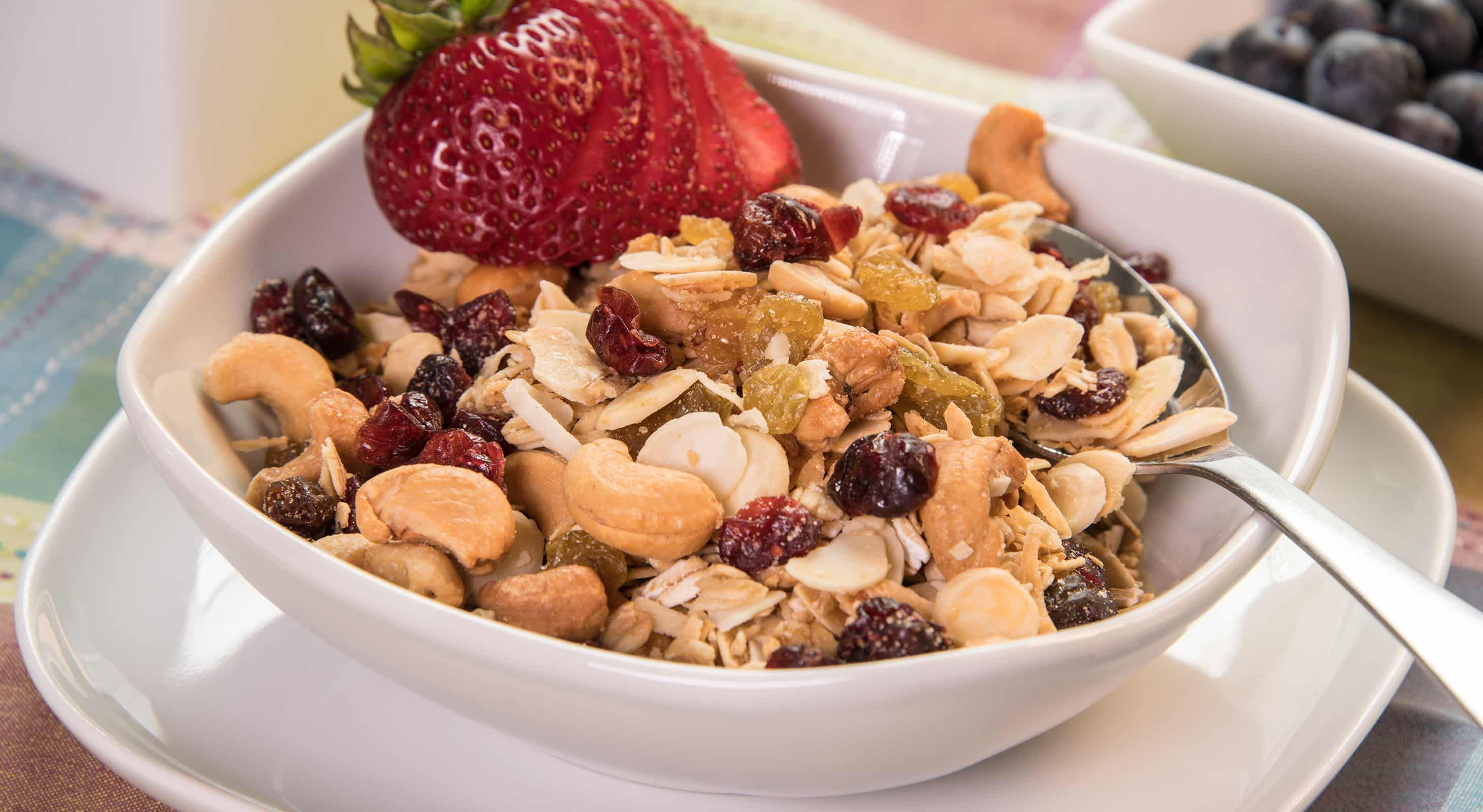 House-made granola with fruit